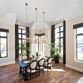 Dining area on hardwood flooring 2